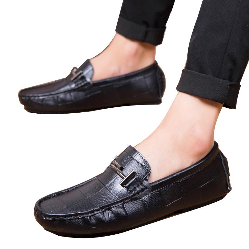 Giày lười dập vân